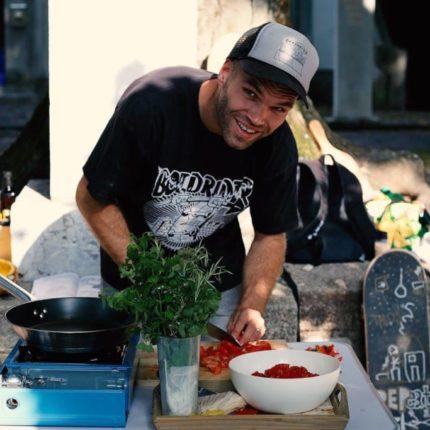 REPeat photo by Urška Boljkovac - Surprise street catering at Tam Tam mestni plakati photo exhibition opening in Ljubljana