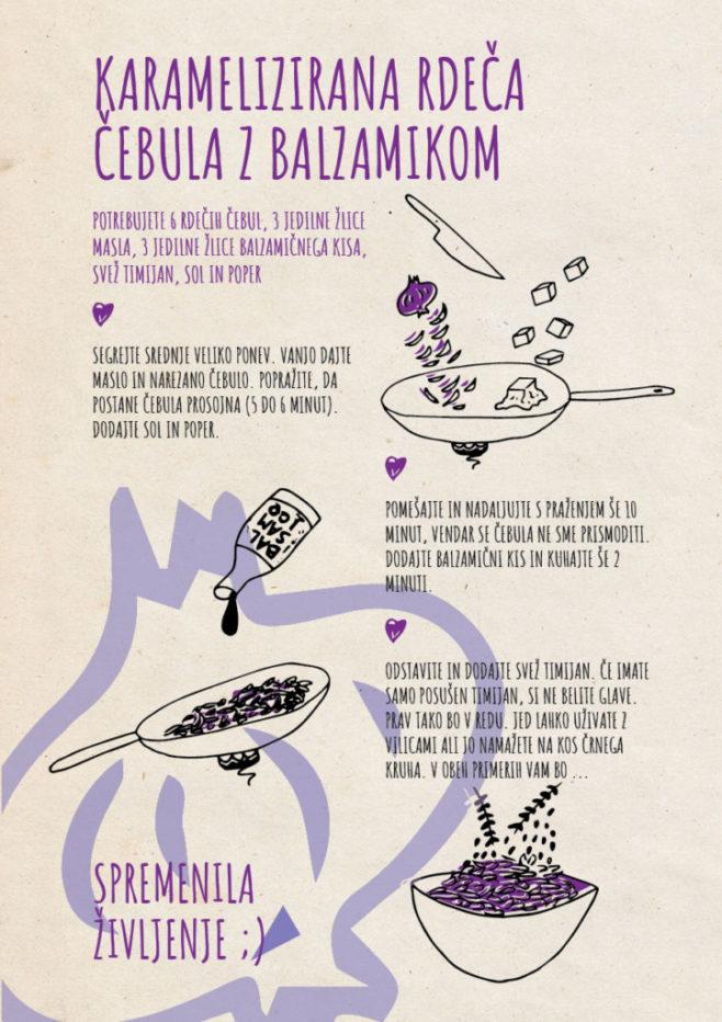 REPeat food-zine Karamelizirana rdeča čebula z balzamikom