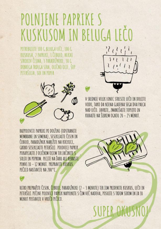 REPeat food-zine Polnjene paprike s kuskusom in beluga lečo
