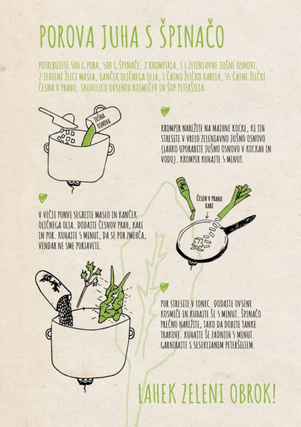 REPeat food-zine Porova juha s špinačo