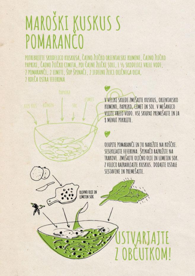 REPeat food-zine Maroški kuskus s pomarančo