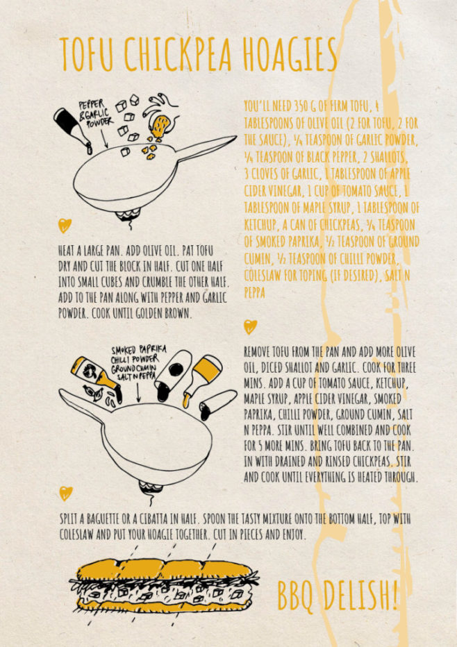 REPeat foodzine21 Tofu chickpea hoagies