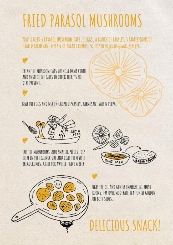 REPeat foodzine31 Fried parasol mushrooms