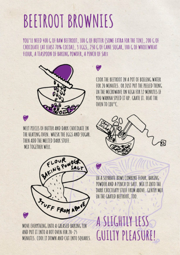 REPeat foodzine3 Beetroot brownies