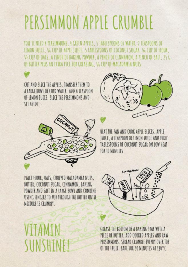 REPeat foodzine7 Persimmon apple crumble
