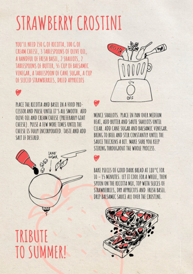 REPeat foodzine8 Strawberry crostini