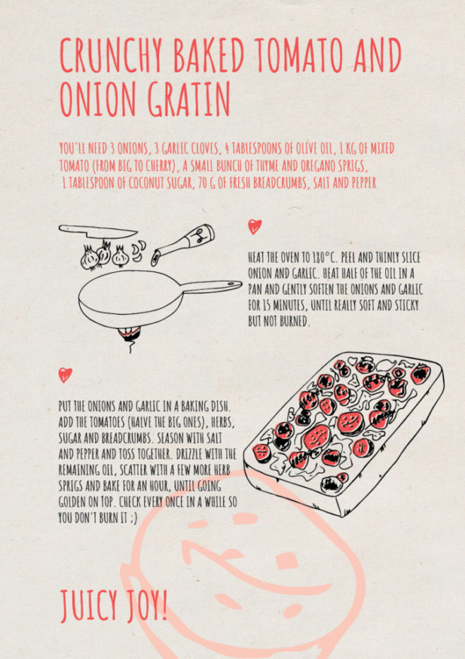 REPeat food-zine - crunchy baked tomato and onion gratin