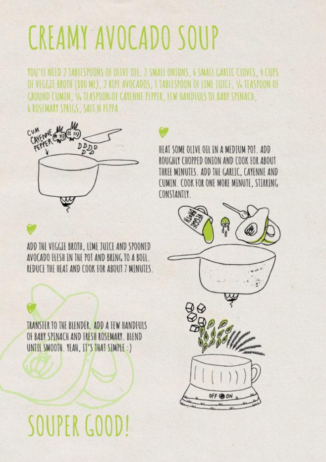 REPeat food-zine - creamy avocado soup