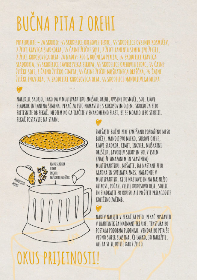 REPeat food-zine - bučna pita z orehi