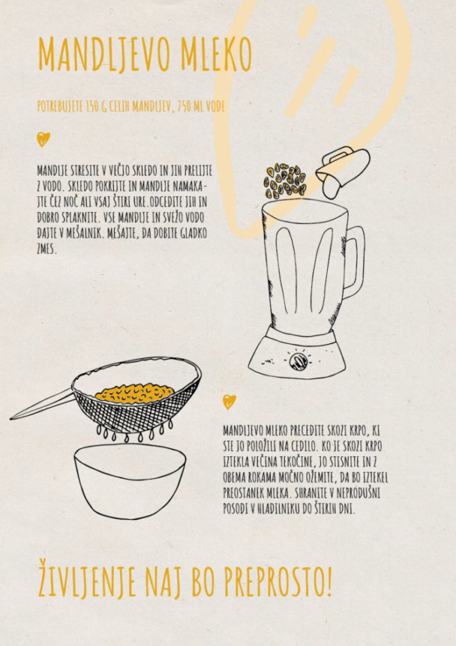 REPeat food-zine - mandljevo mleko