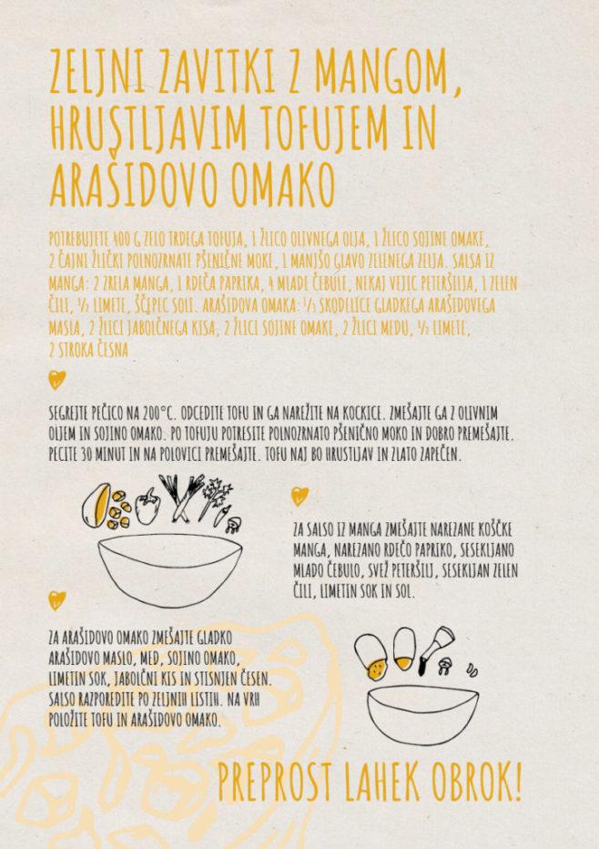 REPeat food-zine - Zeljni zavitki z mangom, hrustljavim tofujem in arašidovo omako
