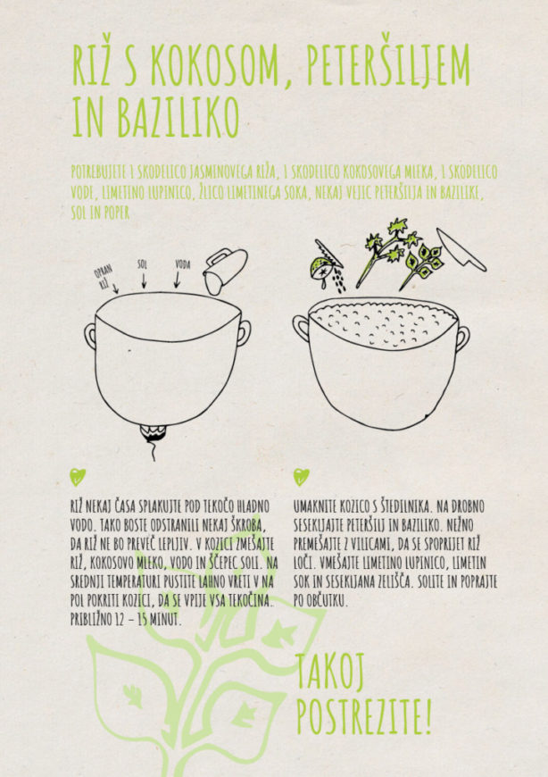 REPeat food-zine - Riž s kokosom, peteršiljem in baziliko
