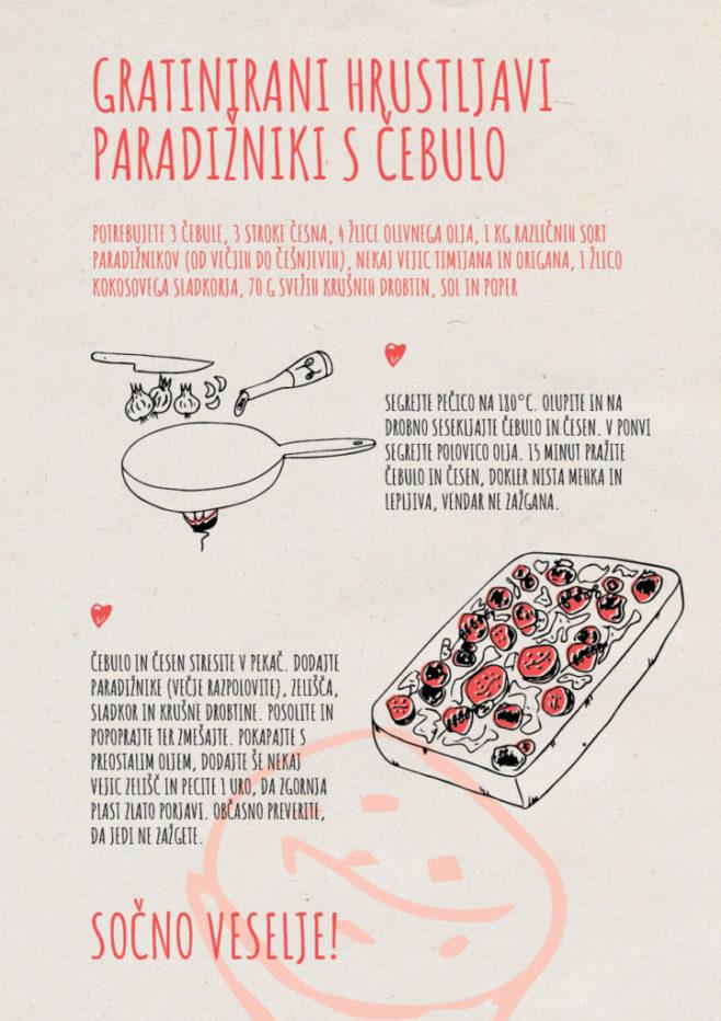 REPeat food-zine - Gratinirani hrustljavi paradižniki s čebulo