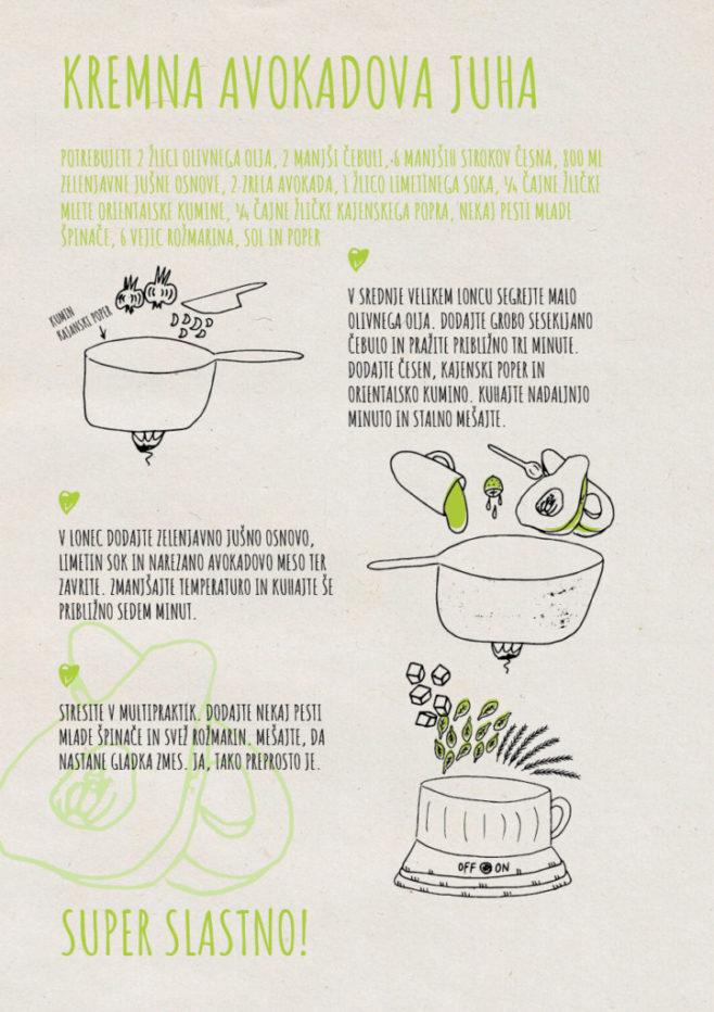 REPeat food-zine - kremna avokadova juha