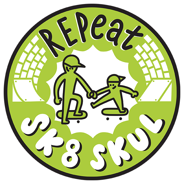 REPeat Sk8 skul logo